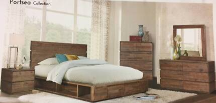 PORTSEA KING BED - ...DIRECT FACTORY OUTLET...