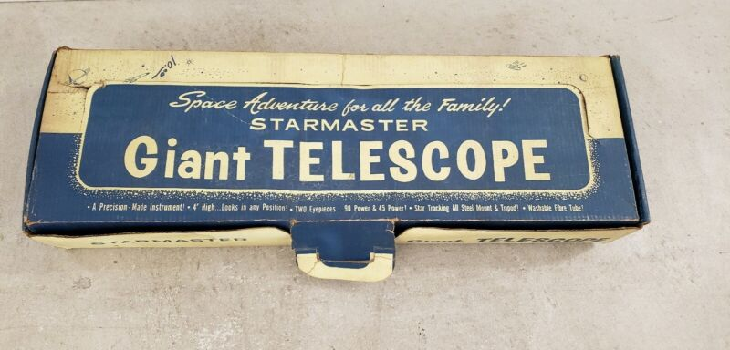 Vintage Telescope by Harmonic Reed Corporation with Box starmaster.