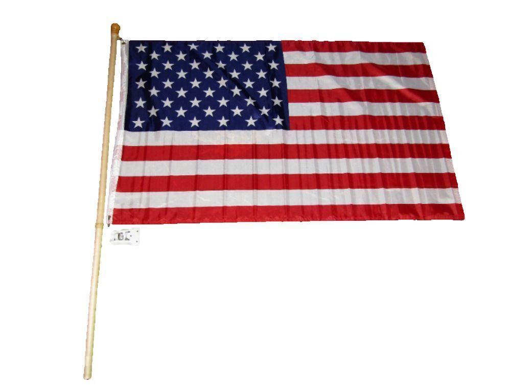 5 ft wooden flag pole kit