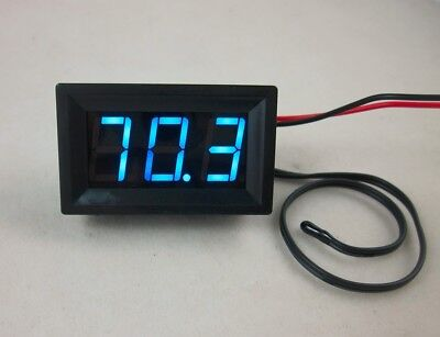Dc 12v Blue Led Digital Thermometer -50220f Fahrenheit Temperaturetemp Probe