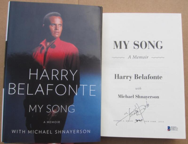 Harry Belafonte signed book My Song: A Memoir Beckett BAS Authentic autograph