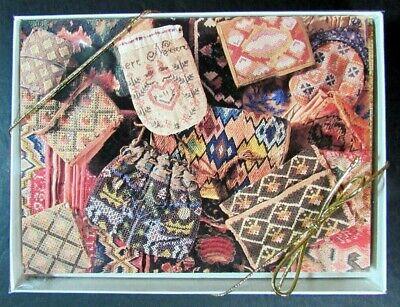 7x Notecard Set  Needlework/Nantucket/Mud Cloth/Quaker/Knutsford Tapestry-ZW51