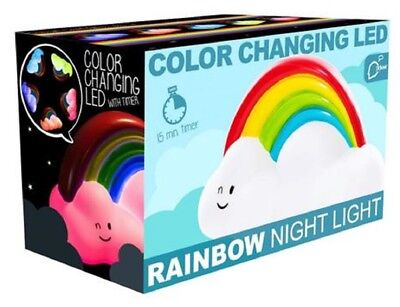 RAINBOW CLOUD LED COLOUR CHANGING NIGHT LIGHT WITH TIMER - 20180 KIDS LIGHT GIFT