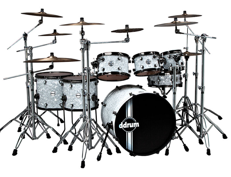 ddrum Reflex Drum Shell Kit (Bubble White Finish) NEW * NEVER PLAYED