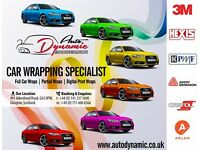 Fully Certified Vehicle Colour Change Specialists and Car / Van Vinyl Wrapping Services in Glasgow