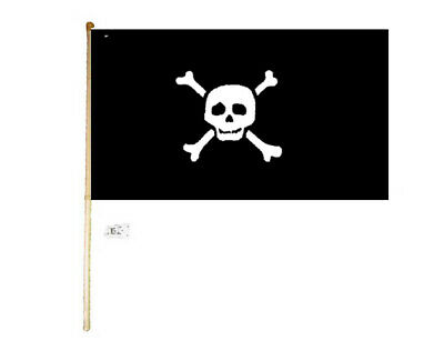 5' Wood Flag Pole Kit Wall Mount Bracket W/ 3x5 Pirate Richard Worley Small Flag