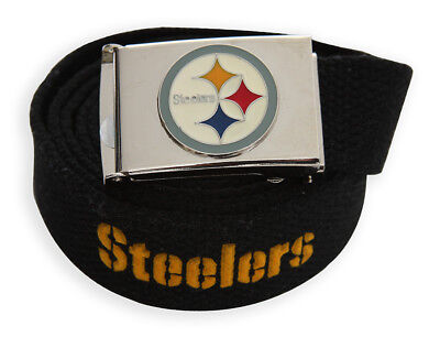 (Web Belt with Buckle Pittsburgh Steelers)