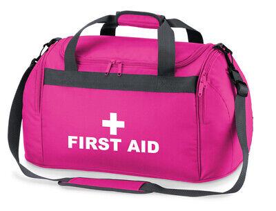 1 X First Aid Pink Holdallwork Bag Paramedic Ambulance Medic First Responder