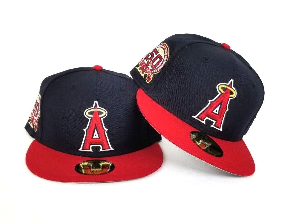 latest discount arrives casual shoes New Era Los Angeles Angels 50th Anniversary Side Patch Fitted hat ...