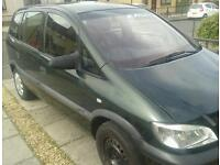 Vauxhall zafira 1.6 petrol green
