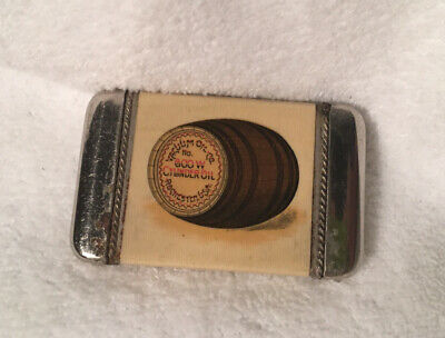 Vintage/Celluloid/Advertising/Match Safe/Vacuum Oil Co/USA/#927