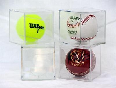 Baseball, Cricket Ball or Tennis Ball Display Cube with UV coating