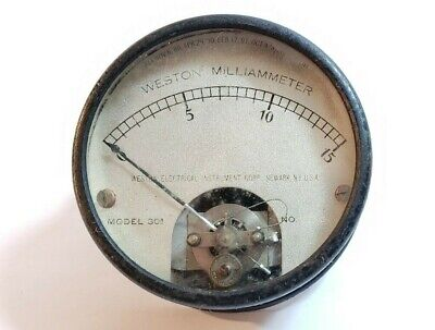 Vtg Weston Electrical Instrument Gauge Meter Model 301 Milliammeter