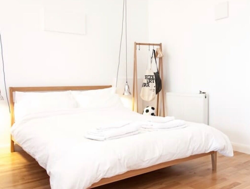 MUJI Solid Bentwood Ash Double Bed frame | in Hoxton, London | Gumtree