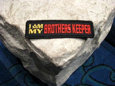 Masonic Biker Patch, I Am My Brothers Keeper, Freemason, Freemasonry Virtue