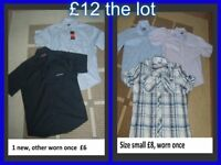 size small pierre Cardin shirts one worn once the other still has tags on collection from didcot