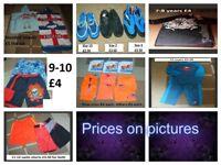 Arm bands £1 a pair (new £2 a pair) towels £5 the lot suit suit 2 piece £3.50 swim shoes swim top
