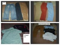 boys clothes bundles of 13 years up to 15 years -collection from didcot