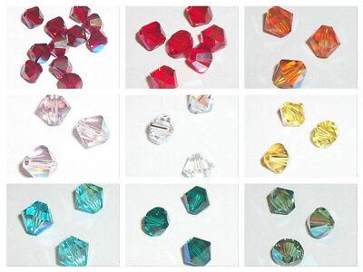 Swarovski bicone Austrian crystal beads faceted Crystal shimmer 3mm 4mm 5mm 6mm
