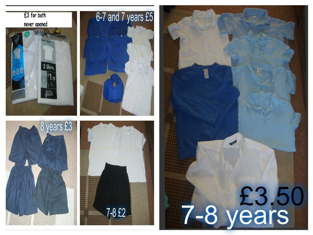 boys school uniform age 7, 7-8 and 8-9 years prices on pictures