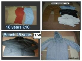 boys clothes 14-16 years prices on pictures or £25 the lot can send more pictures