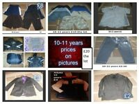 boys clothes 10-11 years prices on pictures or £25 the lot can send more pictures -didcot