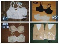 ladies bras size 40 c and 40d prices on pictures or £10 the lot collection from didcot