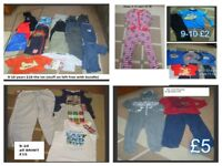 bundle of boys clothes 9-10 years collection from didcot prices on pictures