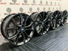 GENUINE BMW 19 X5/ X6 ALLOY WHEELS - 5 x 120 - SHADOW CHROME