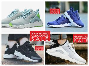 BNIB-New-Women-Nike-Air-Huarache-Run-Ultra-White-Black-Turquoise-Size-4-5-6-7-UK