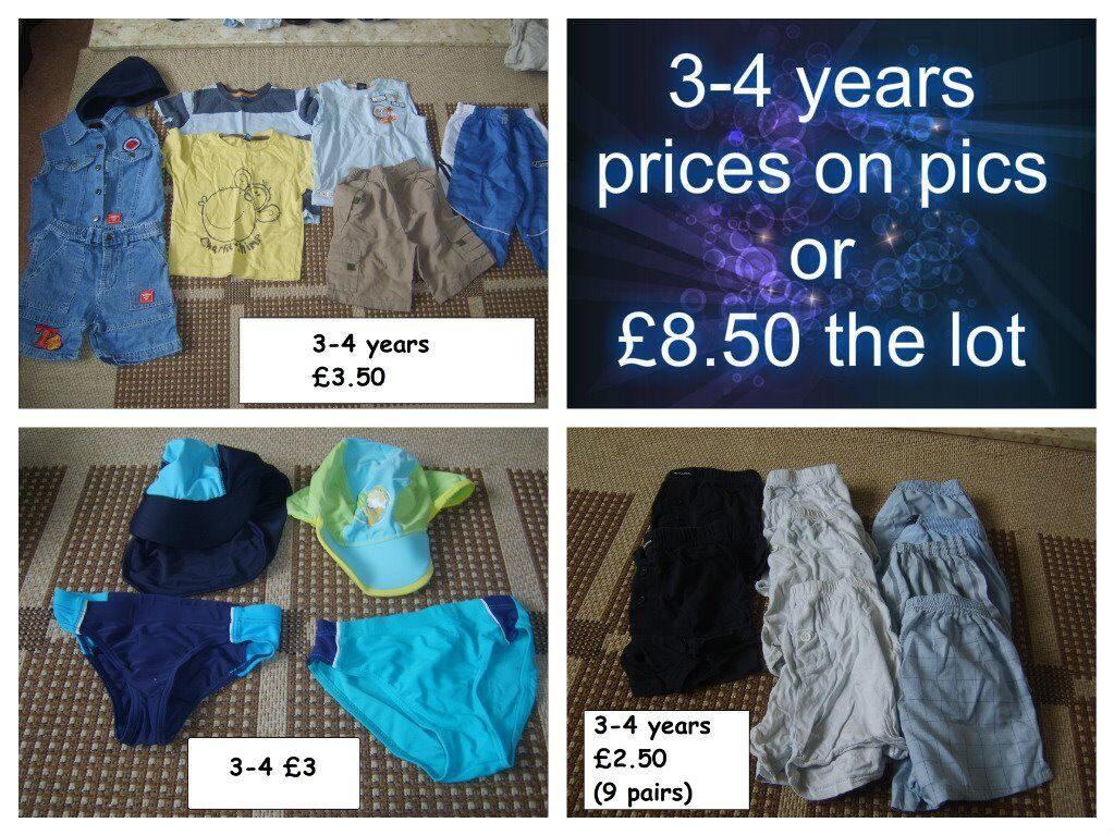 boys clothes 3-4 years prices on pictures collection from didcot from a smoke and pet free home