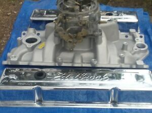 SBC intake, carb, valve covers