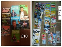 top gear bundle of dvds, magazines and board game (free lunchbox)