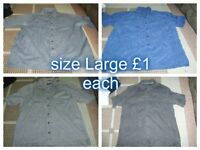 Mens shirts size Large £1 each collection from didcot from a smoke and pet free home