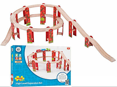 SPIRAL High Level Track Expansion For Wooden Train Track Set ( Brio Thomas )