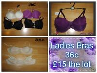 ladies bras size 36c some new collection from didcot £15 the lot from a smoke and pet free home