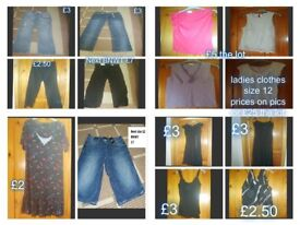 Ladies clothes size 12 Next linen black trousers new with tags Next denim shorts new with tags
