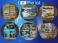 Top Gear bundle of DVD'S, books, magazine, board game and lunchbox --can split