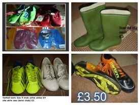 shoes, wellies and football boots size 5 collection from didcot prices on pictures