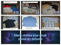 bundle of mens t-shirts size small jeans 28inch prices on pictures