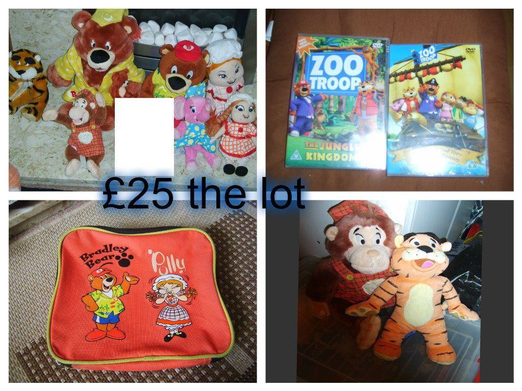 haven holiday soft toys , dvds and lunchbox all in pic
