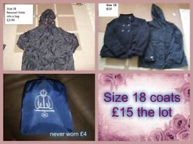 Ladies coats size 18 prices on pictures or £15 the lot collection from Didcot
