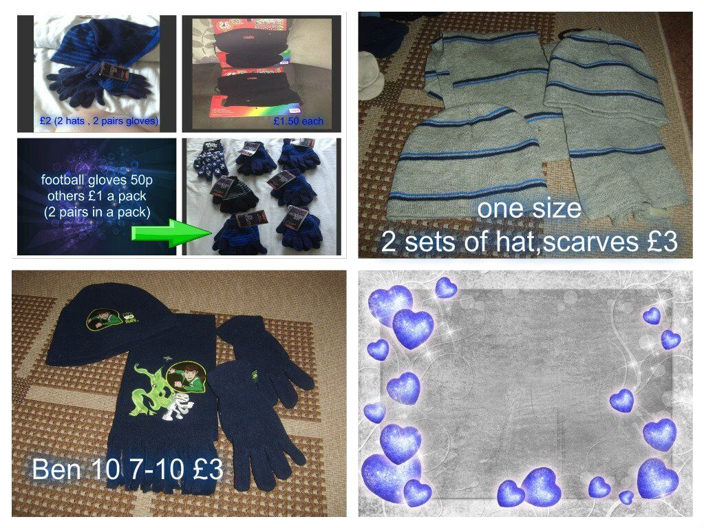 winter hats, gloves and scarves prices on pictures