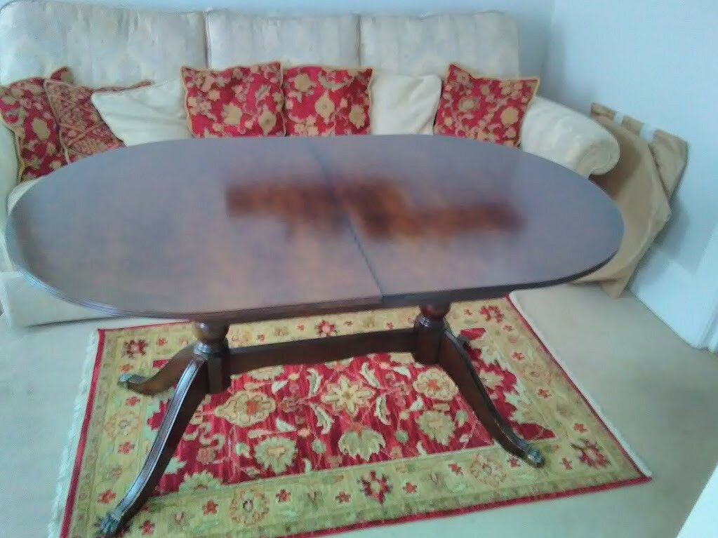 Mahoganey Extendable Dining Table and Six Chairs - now Reserved