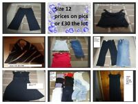 ladies clothes size 12 prices on pics or £30 the lot from a smoke and pet free home