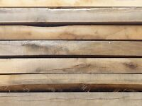 New Oak Untreated Garden Sleepers | Landscape Timber | Rustic | 2400 x 200 x 100