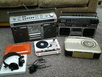 Vintage hifi job lot loft find all untested spares or repairs