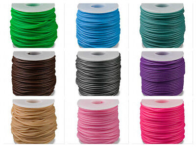2mm Synthetic rubber cord round choose from Many colors 25 meter -