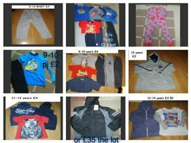 boys clothes 9-13 years prices on pictures from a smoke and pet free home collection from didcot