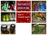 boys shoes size 4 (football boots) size 5 and 5.5
